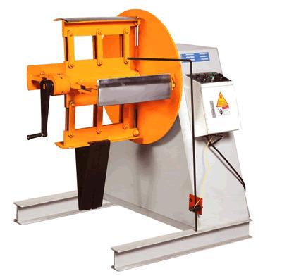 3 Ton hydraulic decoiler short shaft for light keel machine