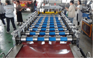 High Strength Round Wave Corrugated Sheet Roll Forming Machine Horizontal
