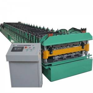 Super Purchasing for Steel Roller Shutter Door Guide Rail Cold Forming Machines - Double layer machine – Zhongtuo
