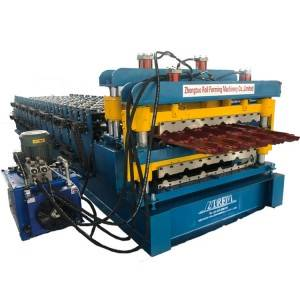 Discountable price Trapezoidal Roofing Tile Roll Forming Machine - Glazed tile and IBR double layer – Zhongtuo