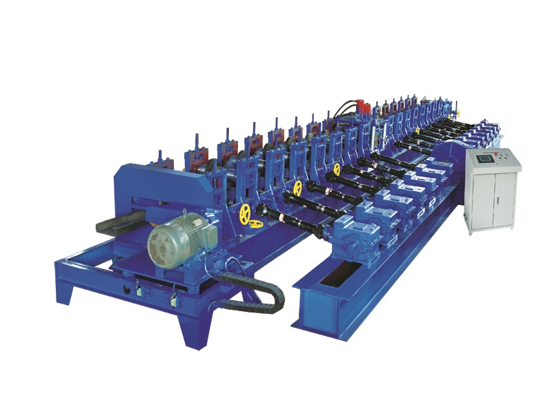 C purline from 80 to 400mm rolling forming machine with different embossing ribs