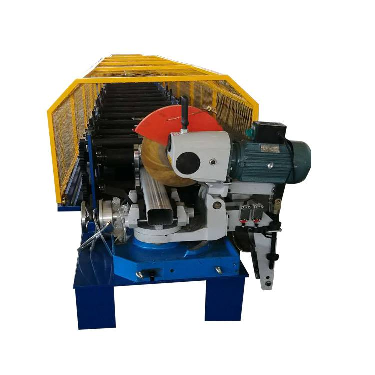 Square down water rain pipe making machine with the bending machine