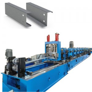 High speed fully automatic Mild Steel C Z Purlin rolling machine