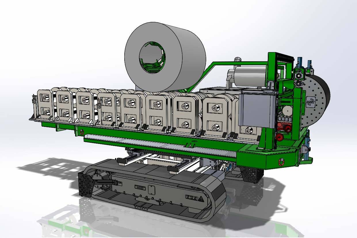 Leading Manufacturer for Gutter Making Machine - Loading car type rolling forming machine/Vehicle-mounted rolling machine – Zhongtuo
