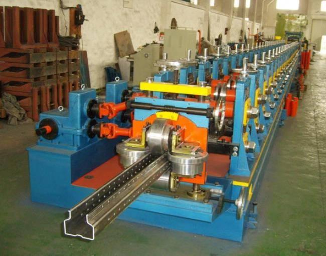 Medium A type shelf rack making machine 4