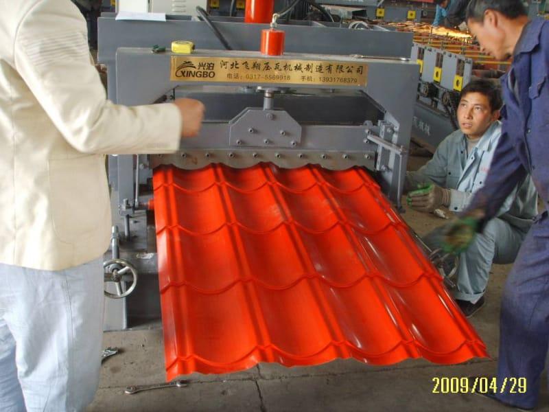 OEM manufacturer Steel Metal Floor Deck Machine - Glazed tile roll forming machine  – Zhongtuo detail pictures