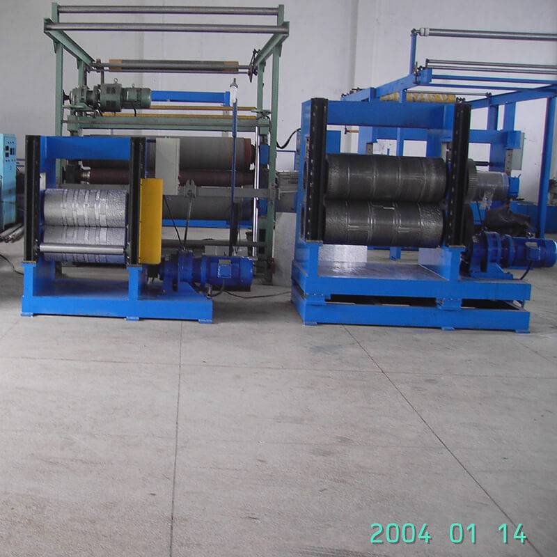 High definition Hydraulic Decoiler & Roll Form Press Machine - Simulation Brick Pattern Metal EmbossingProduction Line – Zhongtuo detail pictures