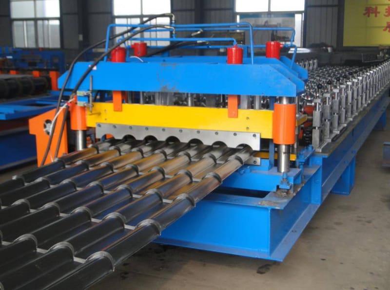 bamboo type glazed tile making machine