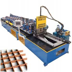 Grille ceiling metal stud making machine