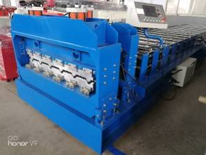 Factory wholesale Color Shutter Roll Garage Door Making Machine - Glazed tile roll forming machine  – Zhongtuo