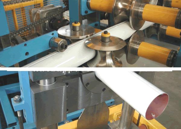 details of round pipe machine