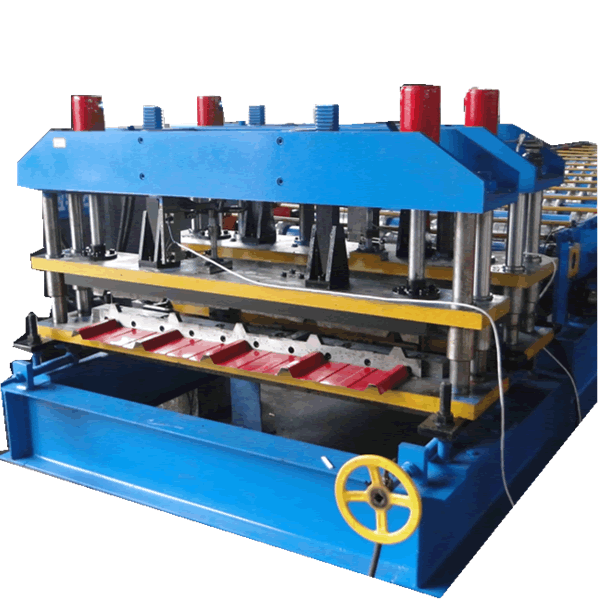 828mm Bamboo shape glazed tile making machine with pressing logo function