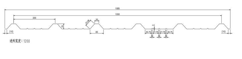 roofing drawing profile