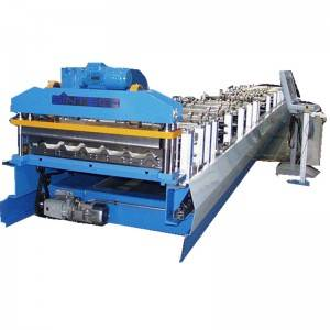 OEM China Color Steel Deck Roll Forming Machine - Motor shearing metal roofing sheet machine – Zhongtuo