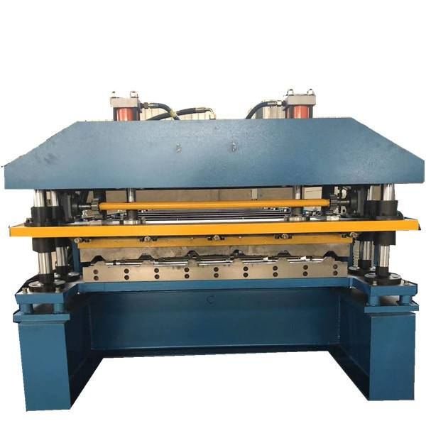 Popular design metal roofing sheet machine trapezoidal sheet roll forming machine