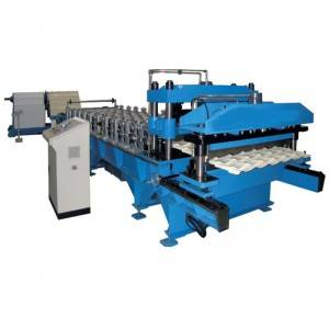 Glazed Roof Tile Machine/Step Tile Roofing Sheet Roll Forming Machine